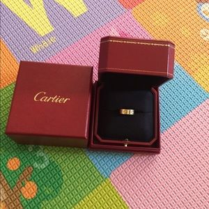 Pre owned Cartier love ring gold
